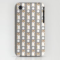 Corgi Polka Dot Pattern … iPhone (3g, 3gs) Slim Case