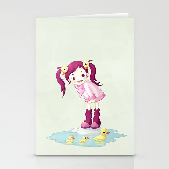 Puddle Ducks Stationery Card