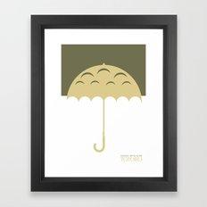 Minimal Totoro Framed Art Print