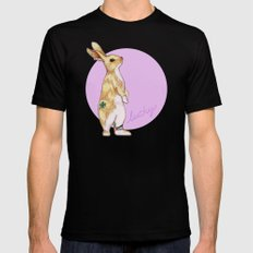 Lucky Bunny Mens Fitted Tee Black SMALL
