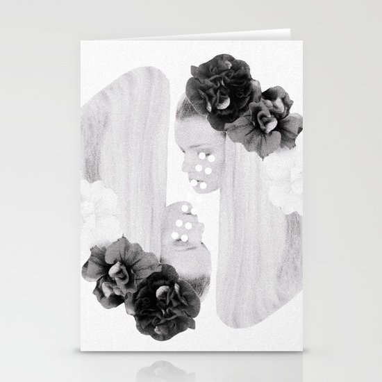 selene and eos (black and white) Stationery Card
