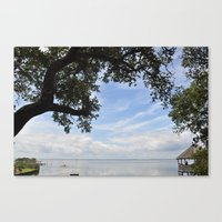 OuterBanks Vacation Blue Sky Landscape Scene Canvas Print