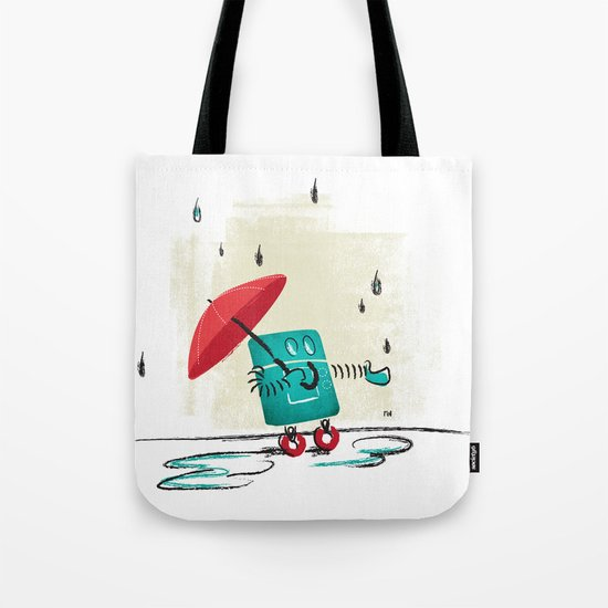 Rain is Bad for Robots Tote Bag