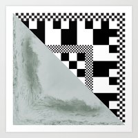 Waves/grid #4 Art Print
