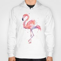 Flamingo Watercolor  Hoody