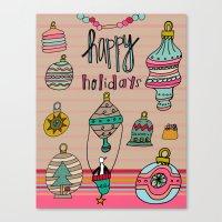 Holiday Ornaments Galore… Canvas Print