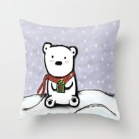 Winter Bear Throw Pillow