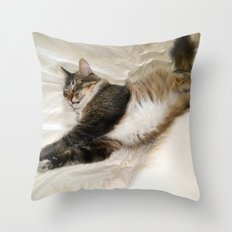Cat Dreaming Throw Pillow
