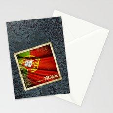 Portugal grunge sticker flag Stationery Cards