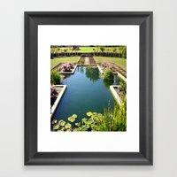 Garden Pond Framed Art Print