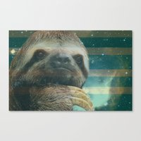 Canvas Print featuring Ragin' like sloth!  by Tristan Nohrer