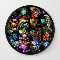 Videogame MashUP Wall Clock