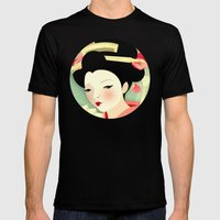 Geisha: Rose Mens Fitted Tee Black SMALL