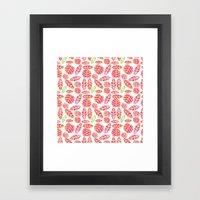minimalist autumn Framed Art Print