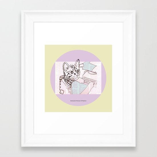 Dedicated Follower Of Fashion  Framed Art Print