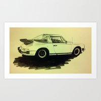 Porsche 911 SC Turbo Art Print