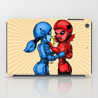 Rock em Sock Em Roller Derby Robots by RonkyTonk iPad Case