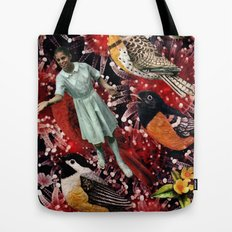 Happy Bird day | Collage Tote Bag