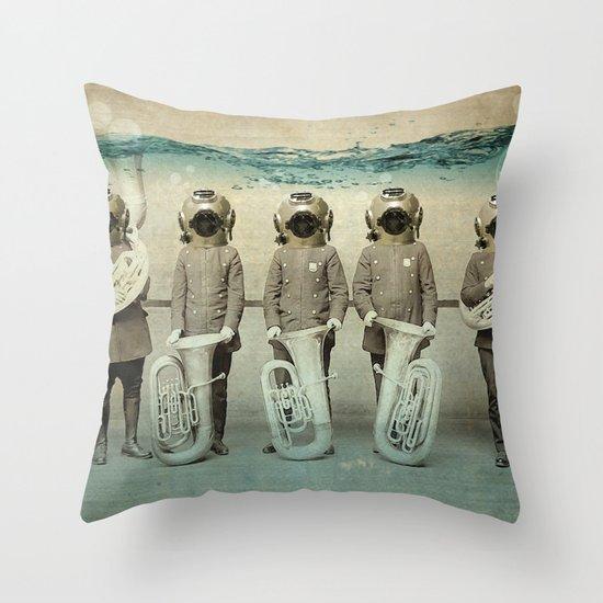the diving bell Tuba quintet Throw Pillow