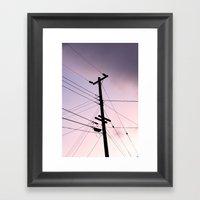 Lines Of Communication Framed Art Print