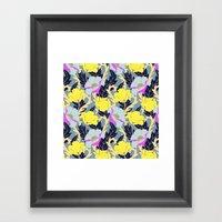 June Yellow Framed Art Print