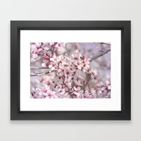 Icy Pink Blossoms - In Memory of Mackenzie Framed Art Print
