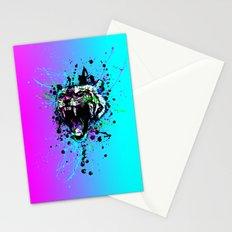 digital tiger  Stationery Cards