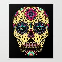 Deco Sugar Skull 3 Canvas Print