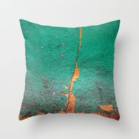 Cracked wall Throw Pillow