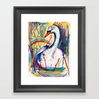 Swan Song Framed Art Print