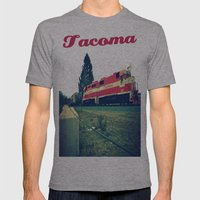 Tacoma Rail Mens Fitted Tee Athletic Grey SMALL