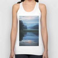 Sunset In The Great Smok… Unisex Tank Top