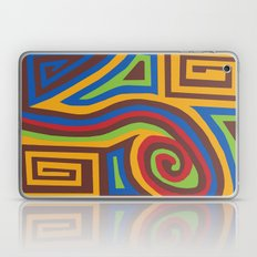 Red Swirl Laptop & iPad Skin