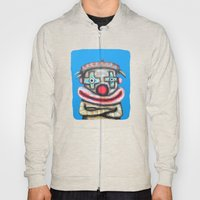 Clown with small advertisement Hoody
