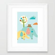 Jungle Ellies Framed Art Print