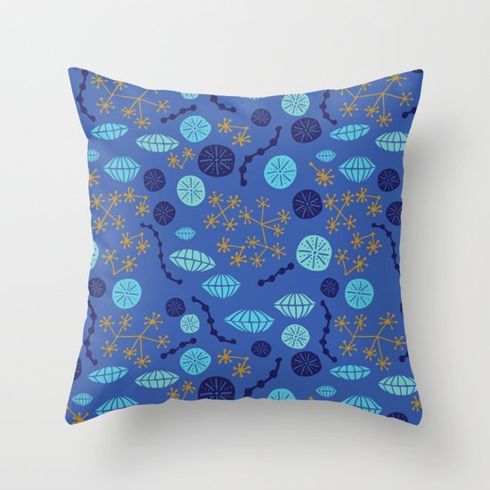 Oceanfloor Throw Pillow