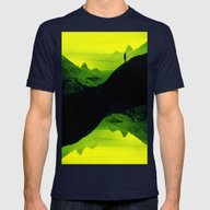 Vibrant Wasteland Mens Fitted Tee Navy SMALL