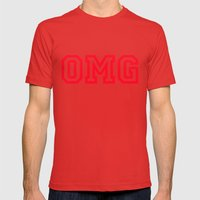 OMG Mens Fitted Tee Red SMALL