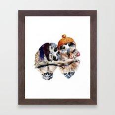Winter Owls Framed Art Print
