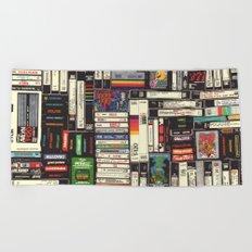 Cassettes, VHS & Atari Beach Towel