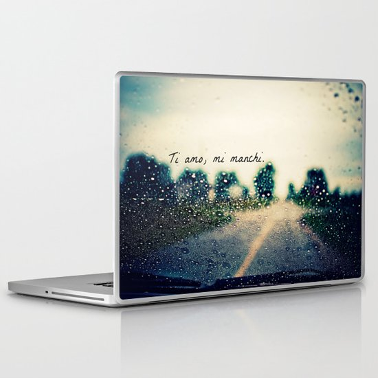 i love you, i miss you.  Laptop & iPad Skin