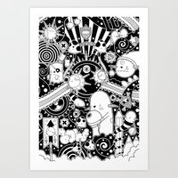 Clutch (Black & White Ve… Art Print