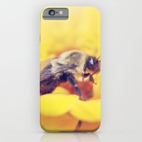 iPhone & iPod Case featuring Bee on Yellow by Shannon Marie