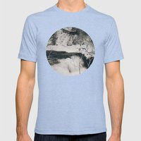 Winter Falls Circular Mens Fitted Tee Tri-Blue SMALL