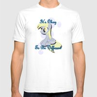 It's Okay Derpy Mens Fitted Tee White SMALL