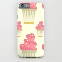 iPhone Cases featuring Cupcakes by Daily Design