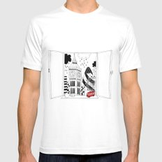 London window SMALL Mens Fitted Tee White