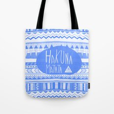 Hakuna Matata electric blue  Tote Bag