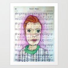 Never Alone Art Print