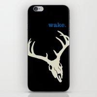 WAKE - SKULL (BLACK) iPhone & iPod Skin